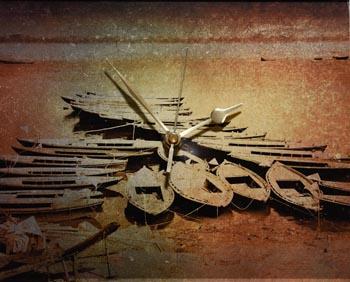 Riverboats Acrylic Clock